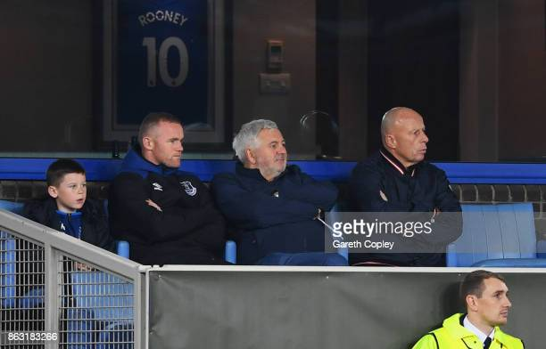 Wayne Rooney of Everton looks on from the stands during the UEFA Europa League Group E match between Everton FC and Olympique Lyon at Goodison Park...
