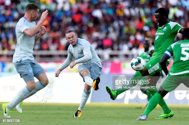 Wayne Rooney of Everton scores against Gor Mahia during a PreSeason Friendly on July 13 2017 in Dar es Salaam Tanzania