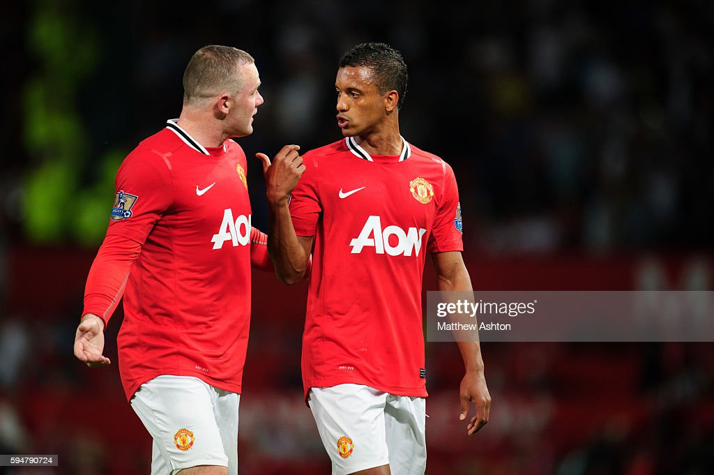 Wayne Rooney of Manchester United and Nani of Manchester United