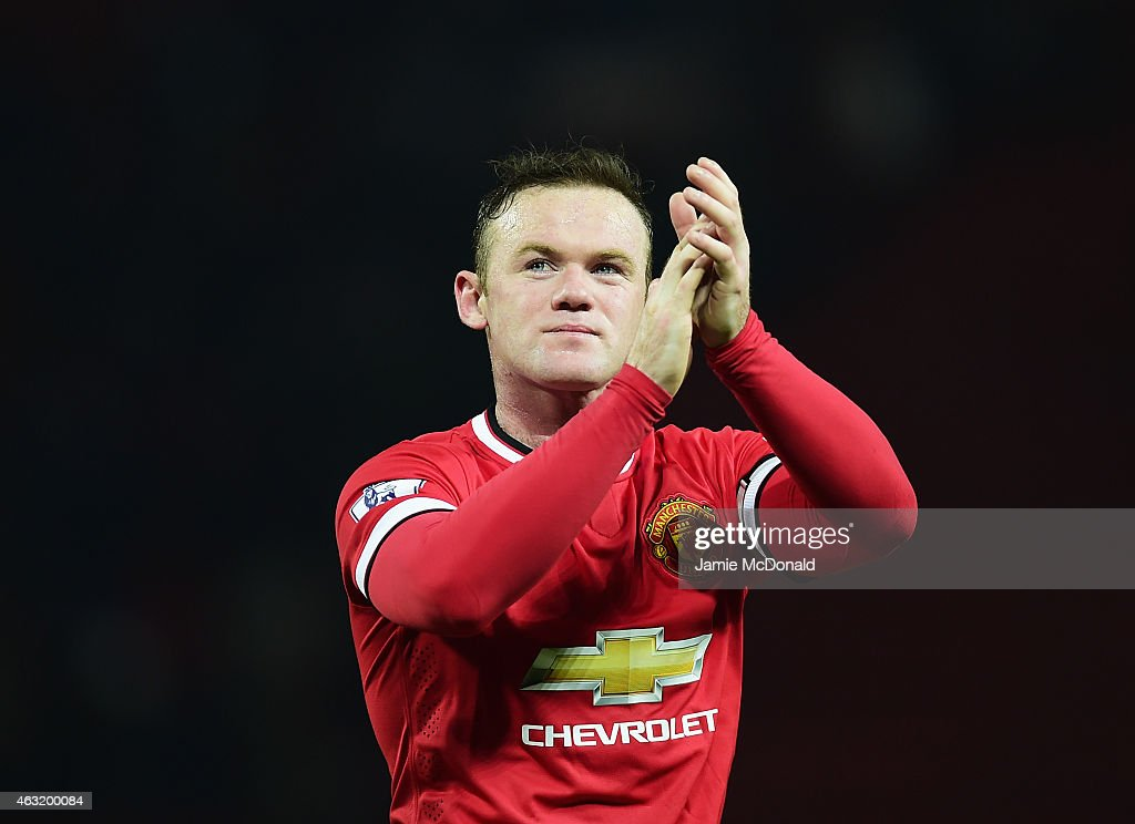 <a gi-track='captionPersonalityLinkClicked' href=/galleries/search?phrase=Wayne+Rooney&family=editorial&specificpeople=157598 ng-click='$event.stopPropagation()'>Wayne Rooney</a> of Manchester United celebrates after the Barclays Premier League match between Manchester United and Burnley at Old Trafford on February 11, 2015 in Manchester, England.