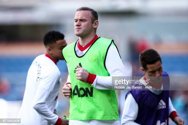 Wayne Rooney of Manchester United during the Premier League match between Burnley and Manchester United at Turf Moor on April 23 2017 in Burnley...