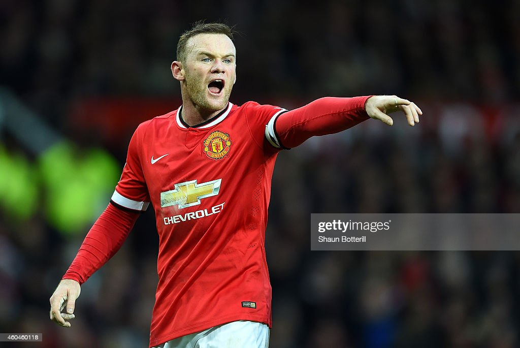 <a gi-track='captionPersonalityLinkClicked' href=/galleries/search?phrase=Wayne+Rooney&family=editorial&specificpeople=157598 ng-click='$event.stopPropagation()'>Wayne Rooney</a> of Manchester United gestures during the Barclays Premier League match between Manchester United and Liverpool at Old Trafford on December 14, 2014 in Manchester, England.