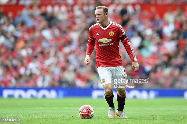 Wayne Rooney of Manchester United in action during the Barclays Premier League match between Manchester United and and Tottingham Hotspur at Old...
