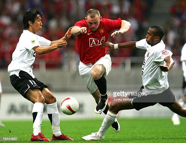 Wayne Rooney of Manchester United in action during the match between Urawa Red Diamonds and Manchester United at Saitama Stadium on July 17 2007 in...