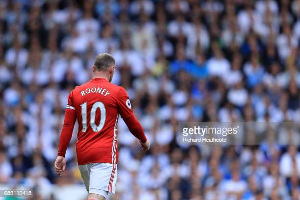 Wayne Rooney of Manchester United in action during the Preimer League match between Tottenham Hotspur and Manchester United at White Hart Lane on May...