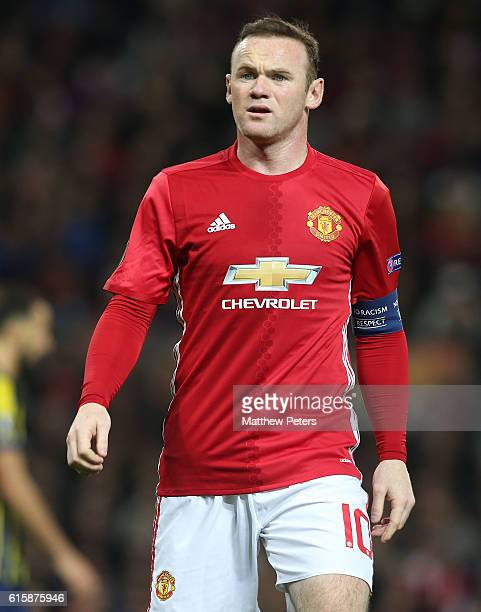 Wayne Rooney of Manchester United in action during the UEFA Europa League match between Manchester United FC and Fenerbahce SK at Old Trafford on...