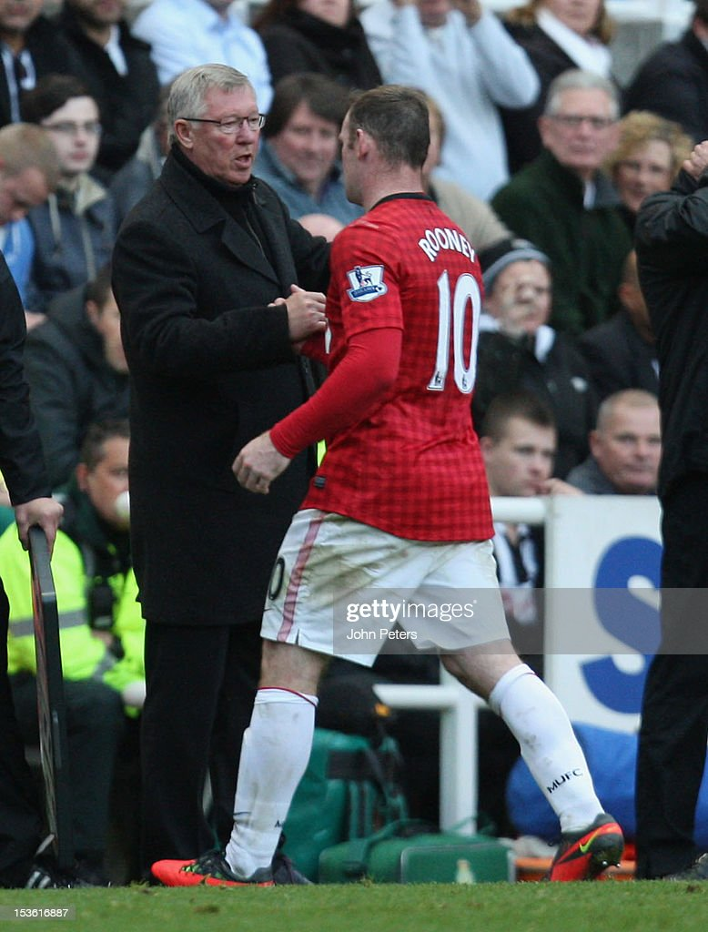 <a gi-track='captionPersonalityLinkClicked' href=/galleries/search?phrase=Wayne+Rooney&family=editorial&specificpeople=157598 ng-click='$event.stopPropagation()'>Wayne Rooney</a> of Manchester United is substituted during the Barclays Premier League match between Newcastle United and Manchester United at Sports Direct Arena on October 7, 2012 in Newcastle upon Tyne, England.