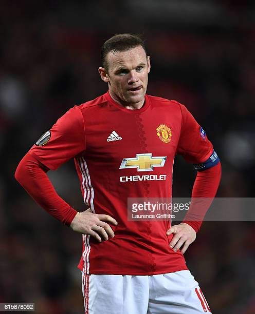 Wayne Rooney of Manchester United looks on during the UEFA Europa League Group A match between Manchester United FC and Fenerbahce SK at Old Trafford...