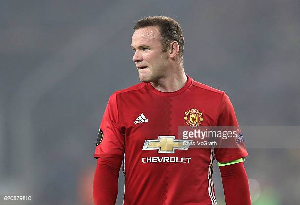 Wayne Rooney of Manchester United looks on during the UEFA Europa League Group A match between Fenerbahce SK and Manchester United FC at Sukru...