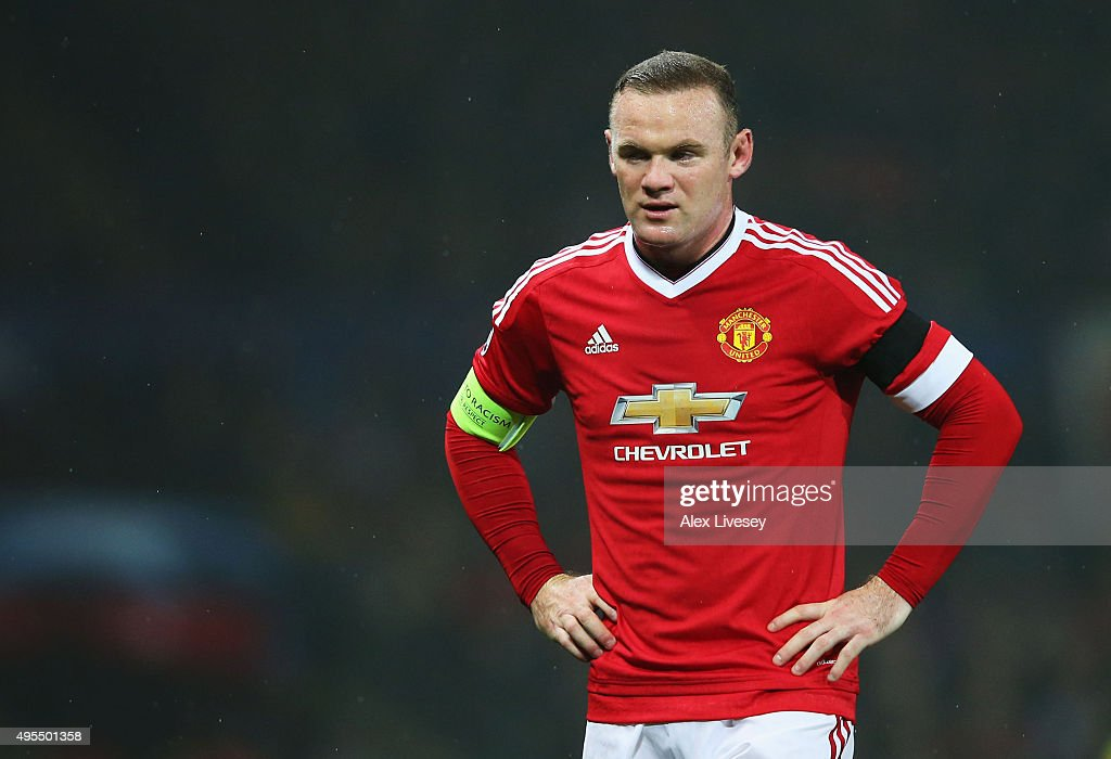<a gi-track='captionPersonalityLinkClicked' href=/galleries/search?phrase=Wayne+Rooney&family=editorial&specificpeople=157598 ng-click='$event.stopPropagation()'>Wayne Rooney</a> of Manchester United looks thoughtful during the UEFA Champions League Group B match between Manchester United FC and PFC CSKA Moskva at Old Trafford on November 3, 2015 in Manchester, United Kingdom.