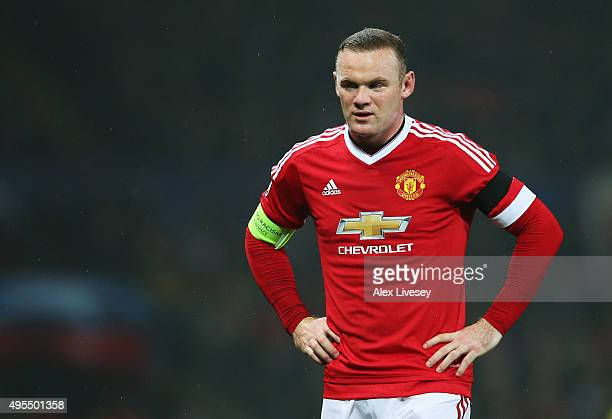 Wayne Rooney of Manchester United looks thoughtful during the UEFA Champions League Group B match between Manchester United FC and PFC CSKA Moskva at...