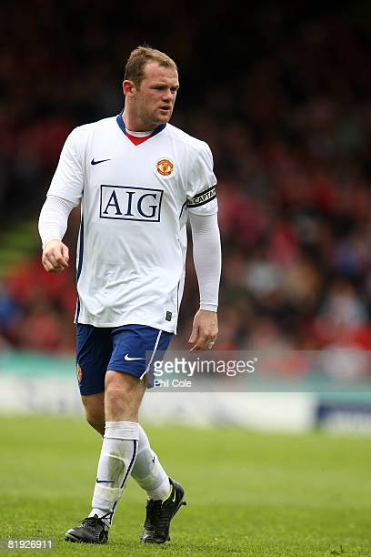 Wayne Rooney of Manchester United watches play during the preseason friendly match between Aberdeen and Manchester United at Pittodrie Stadium on...
