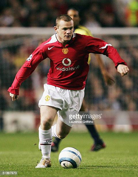 Wayne Rooney of Manchester Unitedin action during the UEFA Champions League Group D match between Manchester United and Fenerbahce SK at Old Trafford...