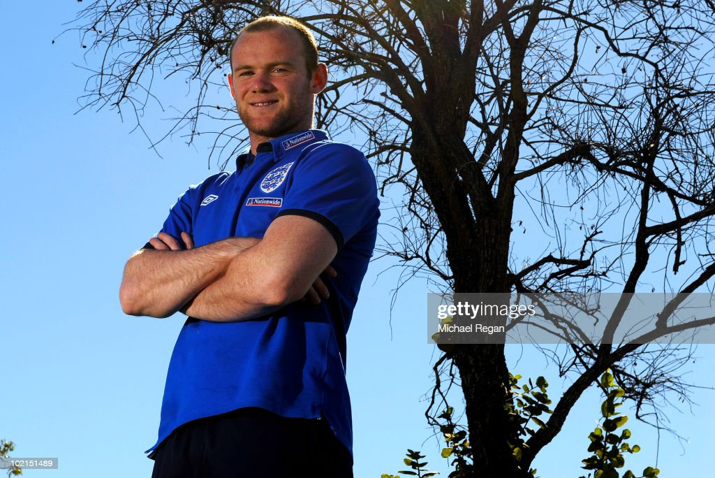 Wayne Rooney poses for a photograph after an England press conference at the Royal Bafokeng Sports Campus on June 16 2010 in Rustenburg South Africa