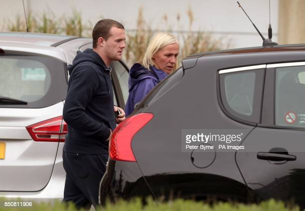 Wayne Rooney's brother Graeme and his mother Jeanette leave Liverpool Women's Hospital after visiting Coleen Rooney who gave birth to Klay Anthony...