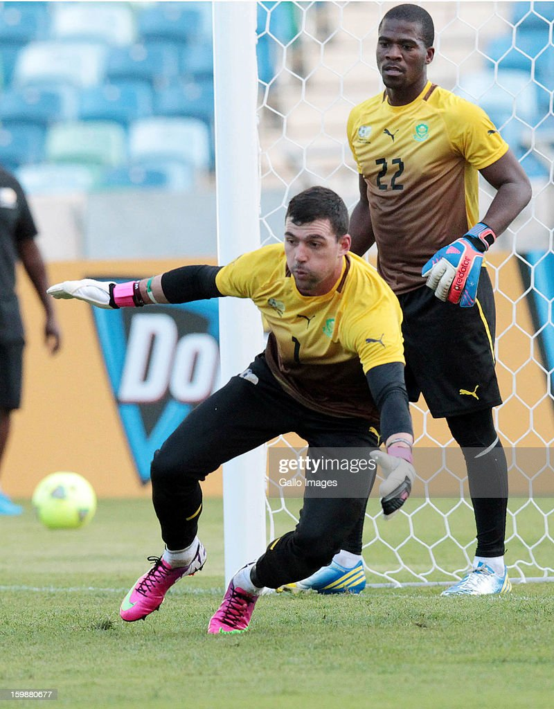 Wayne Sandilands during the South African national soccer team training session at Moses Mabhida Stadium on January 22, 2013 in Durban, South Africa.