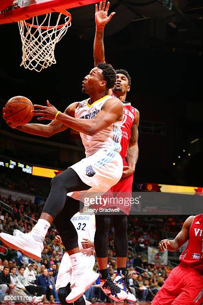 Wayne Selden of the Iowa Energy goes for a shot under the basket against the Rio Grande Valley Vipers in an NBA DLeague game on December 27 2016 at...