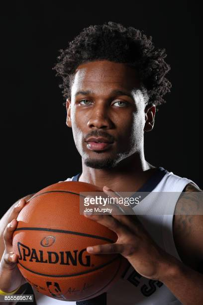 Wayne Selden of the Memphis Grizzlies poses for a portrait during Memphis Grizzlies Media Day on September 25 2017 at FedExForum in Memphis Tennessee...