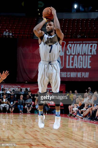 Wayne Selden of the Memphis Grizzlies shoots the ball against the Utah Jazz on July 11 2017 at the Thomas Mack Center in Las Vegas Nevada NOTE TO...
