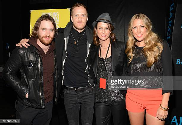 Wayne Sermon Daniel Reynolds Bridget Moynahan and Colbie Caillat attend the Amnesty International Concert presented by the CBGB Festival at Barclays...
