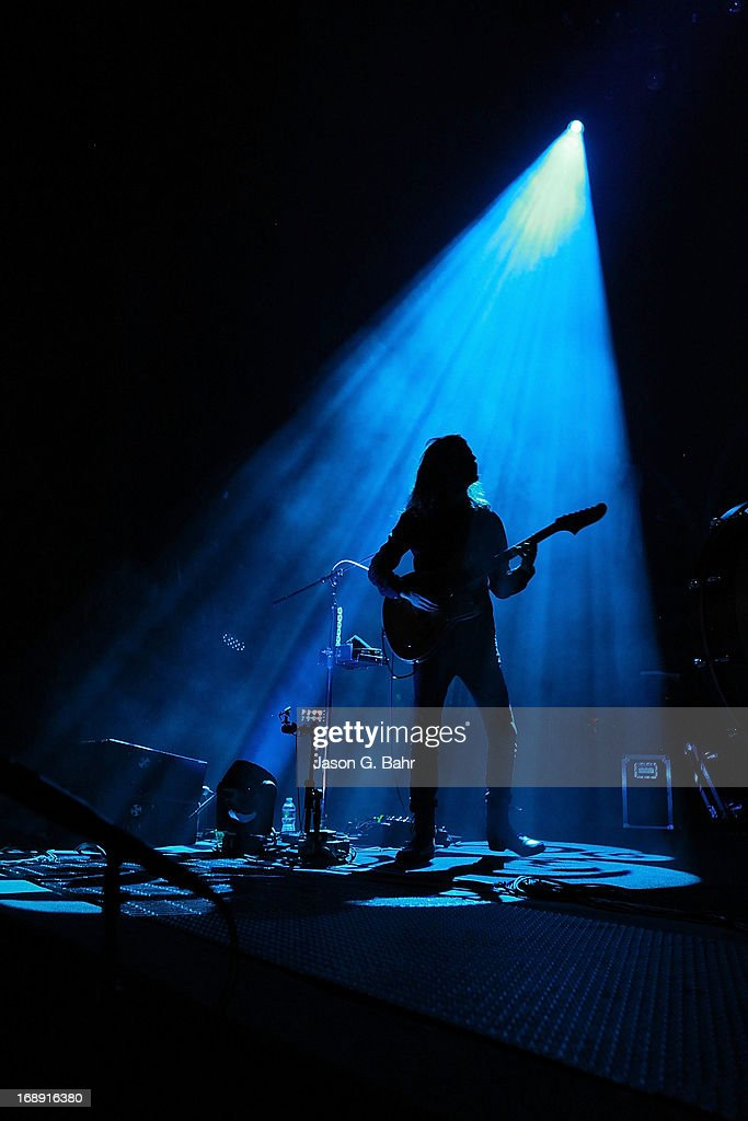 Wayne Sermon of Imagine Dragons performs at Red Rocks Amphitheatre on May 16, 2013 in Morrison, Colorado.
