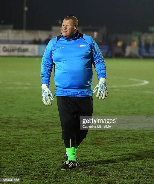Wayne Shaw of Sutton United during The Emirates FA Cup Third Round Replay match between AFC Wimbledon and Sutton United at The Cherry Red Records...