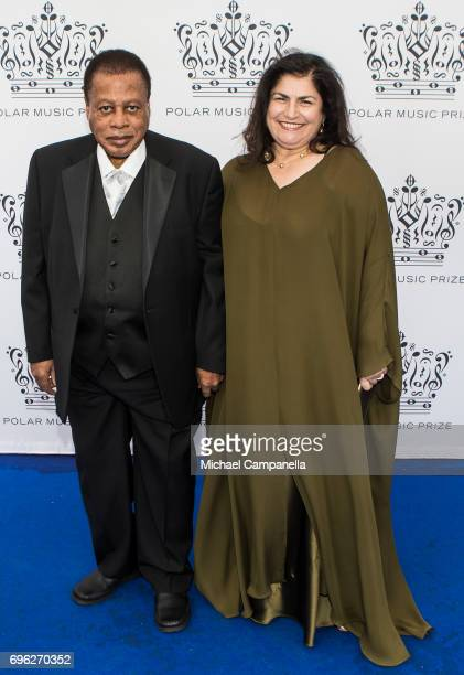 Wayne Shorter and Carolina Dos Santos attend Polar Music Prize on June 15 2017 in Stockholm Sweden