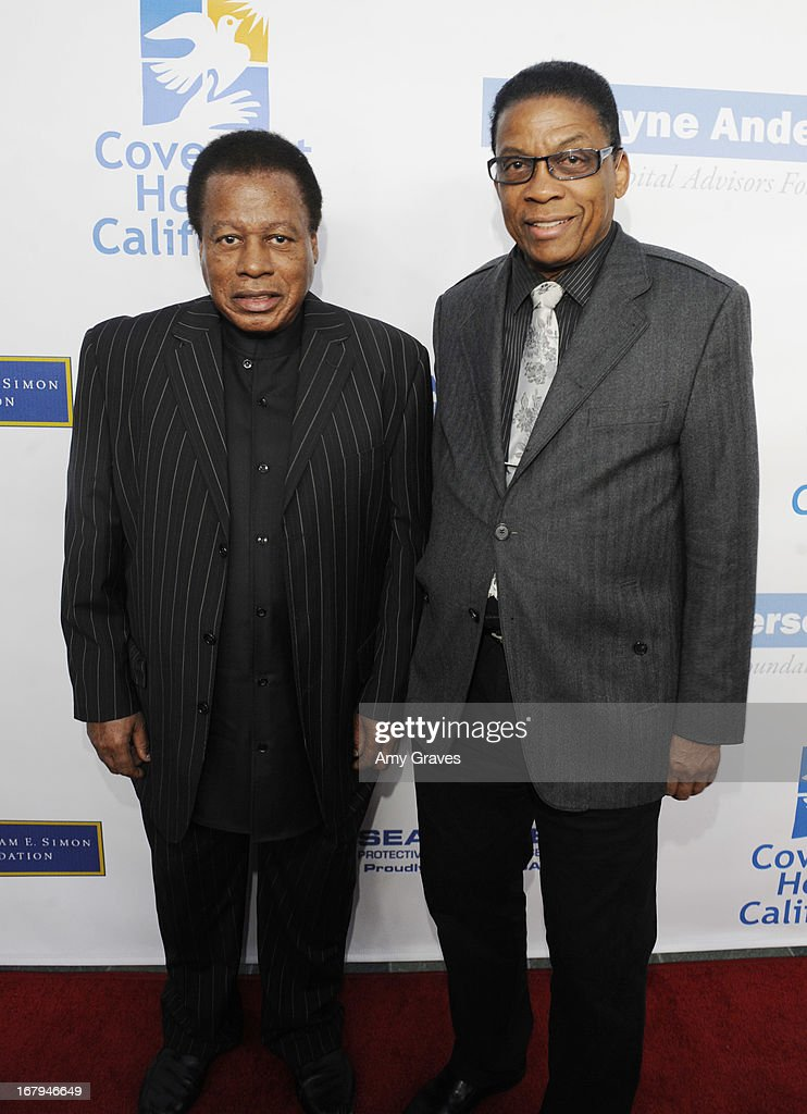 <a gi-track='captionPersonalityLinkClicked' href=/galleries/search?phrase=Wayne+Shorter&family=editorial&specificpeople=1065564 ng-click='$event.stopPropagation()'>Wayne Shorter</a> and <a gi-track='captionPersonalityLinkClicked' href=/galleries/search?phrase=Herbie+Hancock&family=editorial&specificpeople=214131 ng-click='$event.stopPropagation()'>Herbie Hancock</a> attend A Magical Night of Hope at Skirball Cultural Center on May 2, 2013 in Los Angeles, California.