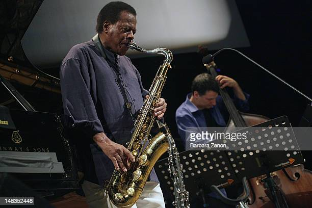 Wayne Shorter performs on stage at Teatro Morlacchi during Umbria Jazz Festival on July 14 2012 in Perugia Italy