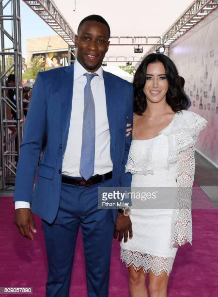 Wayne Simmonds of the Philadelphia Flyers and his fiancee Crystal Corey attend the 2017 NHL Awards at TMobile Arena on June 21 2017 in Las Vegas...