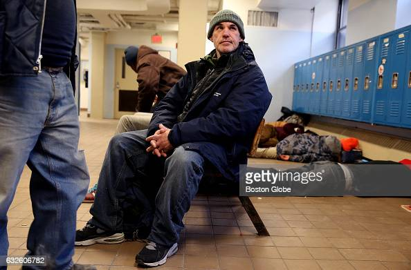 Wayne Smith sits in a common area in the men's shelter at the Pine Street Inn in Boston on Feb 11 2016 Smith has been staying at the shelter for 6...