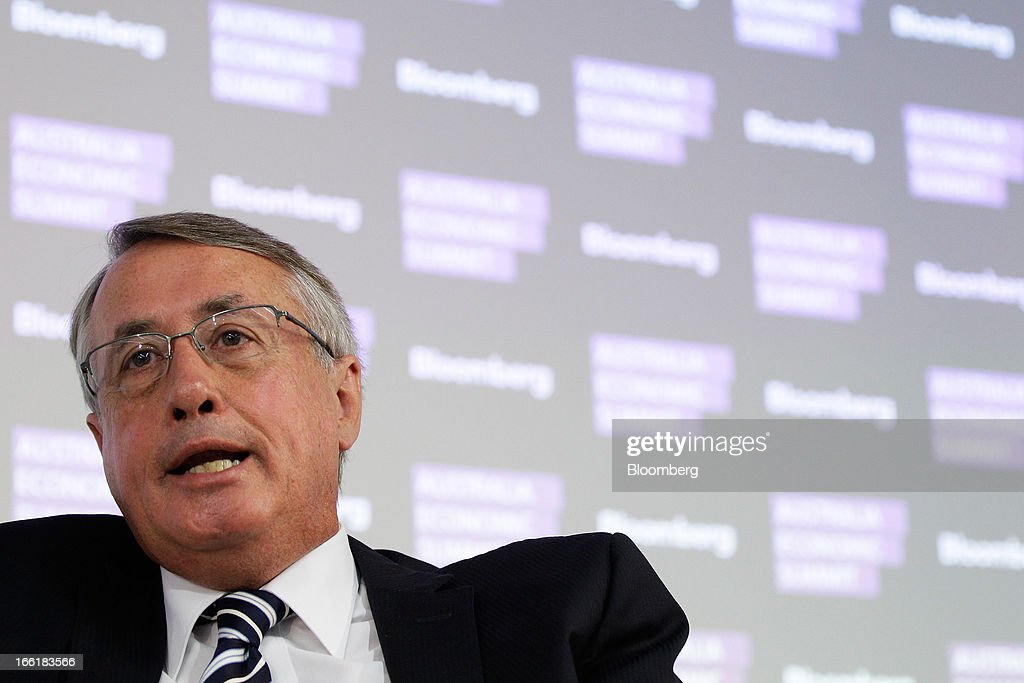 Wayne Swan, Australia's deputy prime minister and treasurer, speaks during the Bloomberg Australia Economic Summit in Sydney, Australia, on Wednesday, April 10, 2013. Swan said he supports Federal Reserve Chairman Ben S. Bernanke's quantitative easing and Japanese Prime Minister Shinzo Abe's reflation policy, in contrast to Europe's hazardous pursuit of austerity as the world economy struggles to shake off the global financial crisis. Photographer: Brendon Thorne/Bloomberg via Getty Images