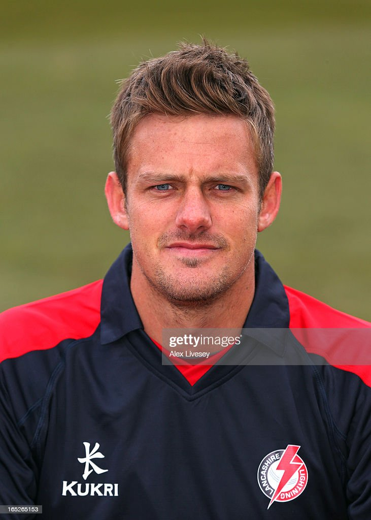 Wayne White of Lancashire CCC wears the Yorkshire 40 during a pre-season photocall at Old Trafford on April 2, 2013 in Manchester, England.