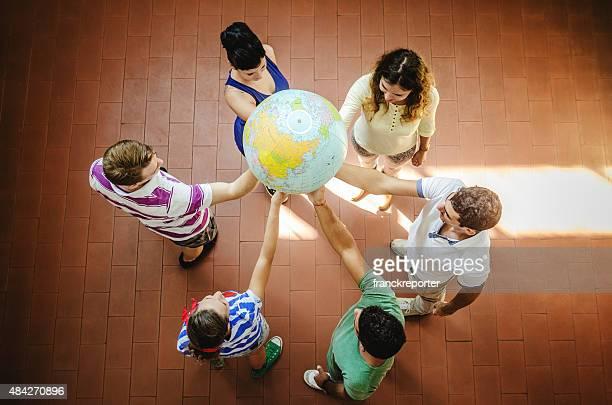 Wir sind eine Gruppe-teamwork Konzept