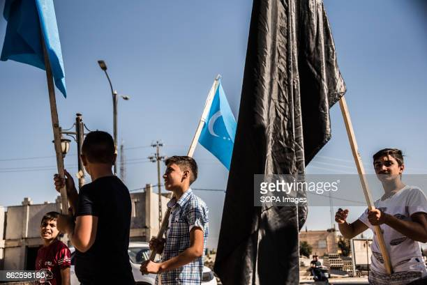 'We are putting up our flags now that the kurds have gone We took all theirs down Since last night we can live peacefully it will be a better life...