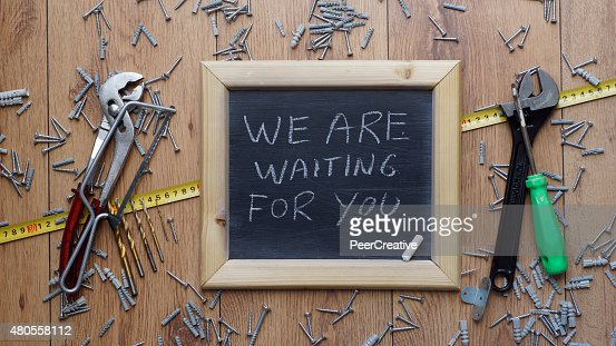 We are waiting for you : Stock Photo