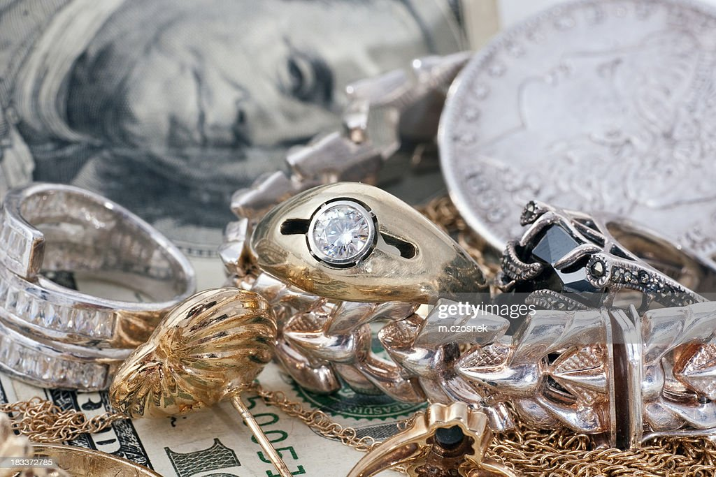 We buy gold and silver : Stock Photo