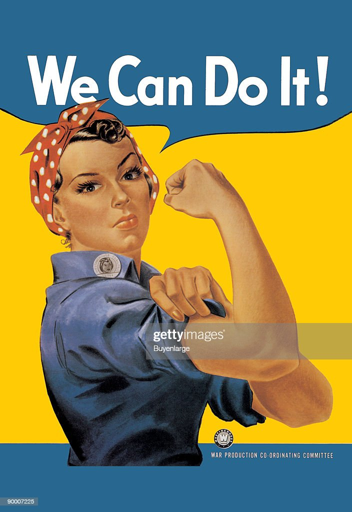 we can do it an american wartime propaganda poster produced by j pictures getty images. Black Bedroom Furniture Sets. Home Design Ideas
