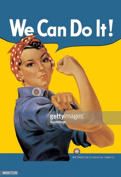 We Can Do It an American wartime propaganda poster produced by J Howard Miller in 1943
