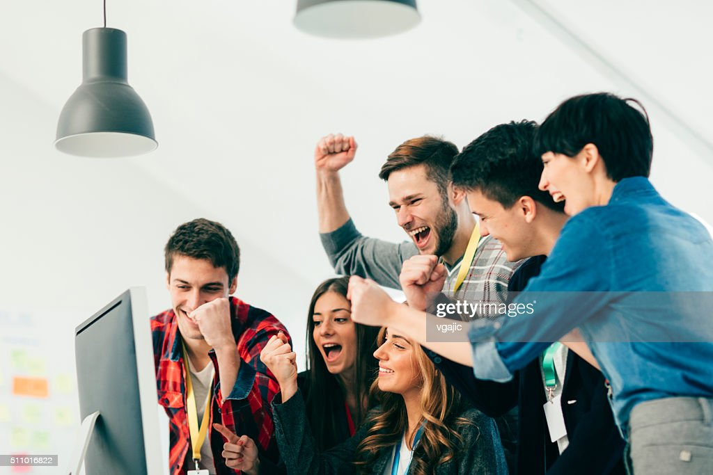We Did It Again! : Stock Photo