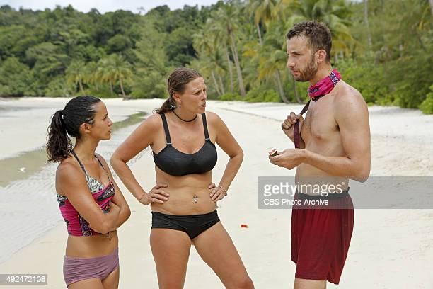 'We Got A Rat' Monica Padilla Kimmi Kappenberg and Stephen Fishbach during the third episode of SURVIVOR Wednesday Oct 7 The new season in Cambodia...