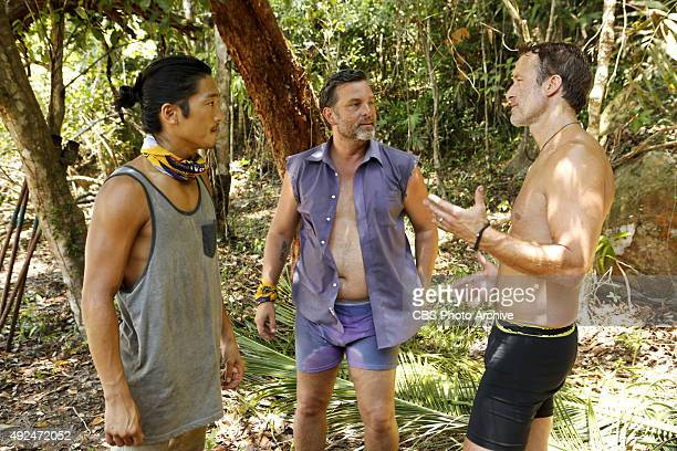 'We Got A Rat' Woo Hwang Jeff Varner and Andrew Savage during the third episode of SURVIVOR Wednesday Oct 7 The new season in Cambodia themed 'Second...
