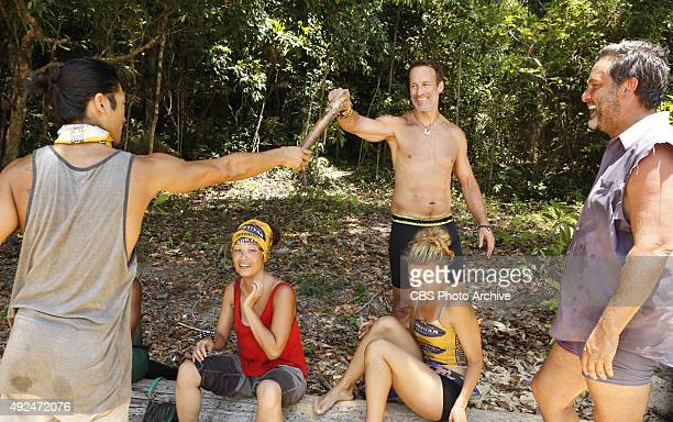 'We Got A Rat' Woo Hwang PeihGee Law Andrew Savage AbiMaria Gomes and Jeff Varner during the third episode of SURVIVOR Wednesday Oct 7 The new season...