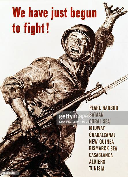 We have just begun to fight American propaganda poster World War II United States 20th century