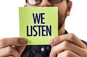 We Listen sign