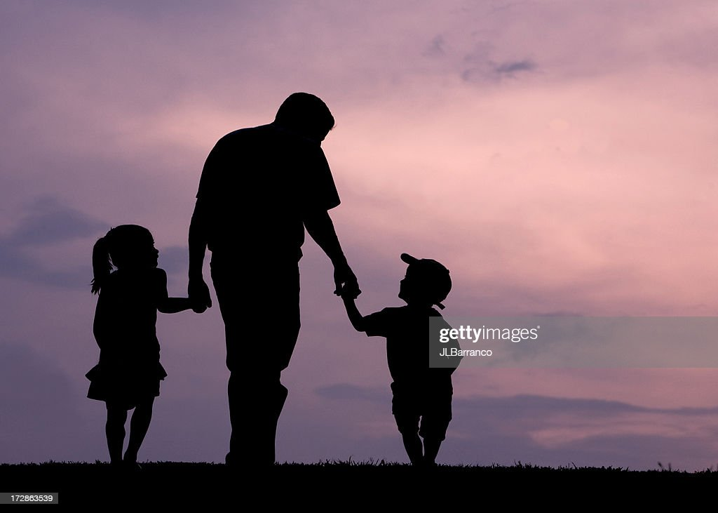 We Love Daddy : Stock Photo