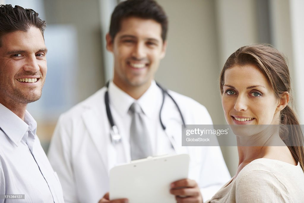 We trust him with our health : Stock Photo