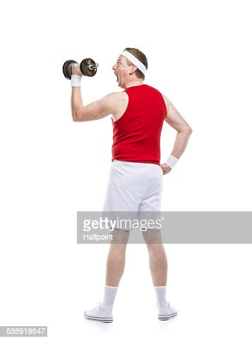 Weak body builder : Stock Photo