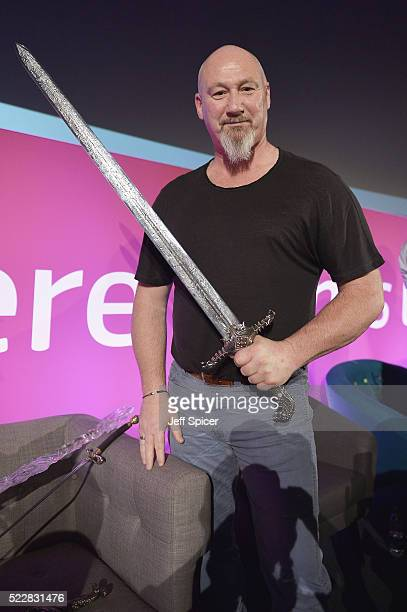 Weapons Master Tommy Dunne during Game of Thrones From Page to Screen part of Advertising Week Europe 2016 day 4 at Picturehouse Central on April 21...