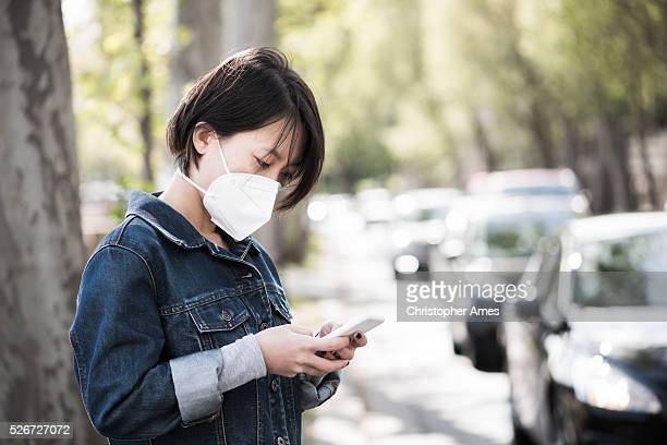 Wearing an Air Pollution Mask in the City